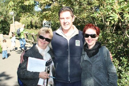 Sibylle (L) with Howie and friend Meg