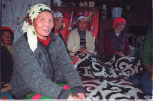 Kazak women making beautiful rugs in Mongolia. Photo Charles Dye. Courtesy SLT.