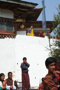 Bhutanese King wearing his traditional yellow robe. Photo by Sibylle