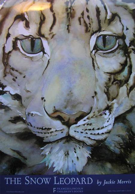 Jackie Morris 'The Snow Leopard' book cover.