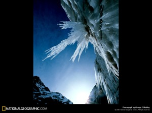Gangotri glacier. Photo National Geographic George F. Mobley 1984.