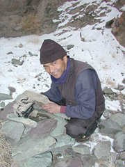 Jigmet Dadul, best snow leopard tracker in Ladakh. Photo kind permission of Snow Leopard Conservancy.